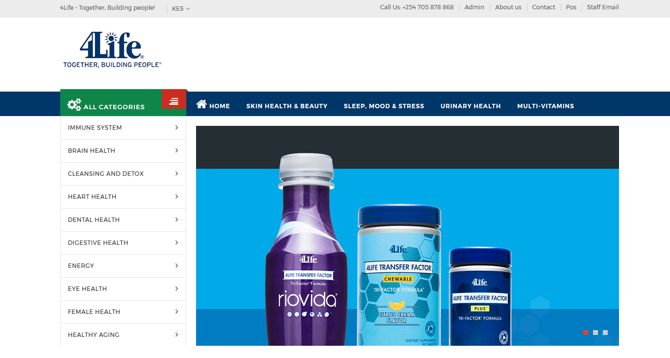 4Life Kenya Limited Website