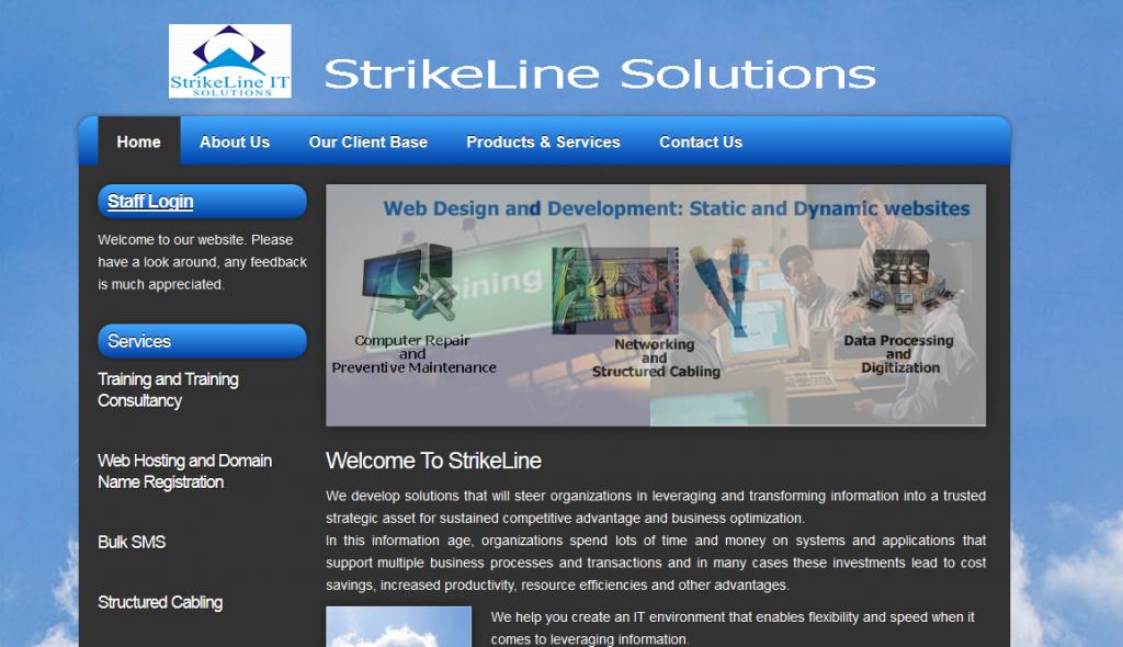 Strike IT Solutions Website