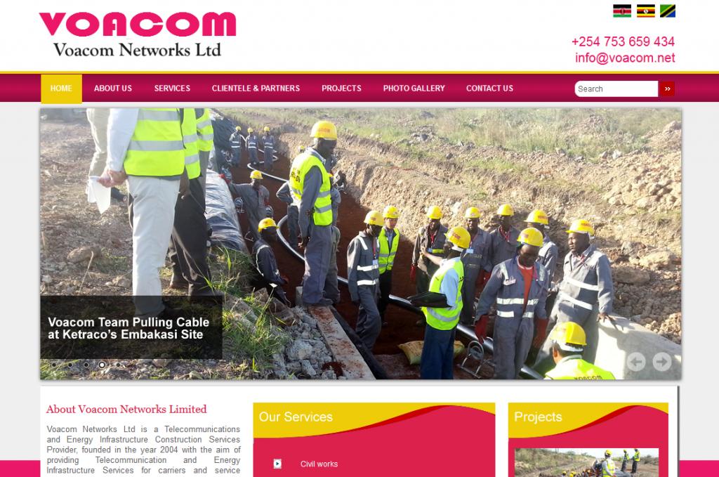 Voacom Network Limited Website
